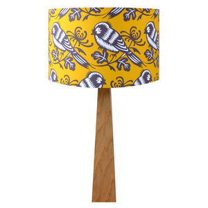 Mustard Birds Wooden Table Lamp - bedside lamps