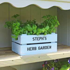 Personalised Small Planter Crate - pots & planters
