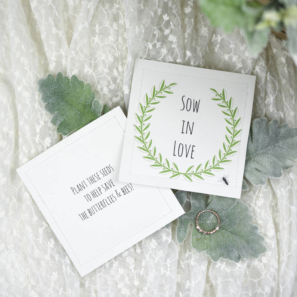 Wildflower Seed Wedding Favor Packets sow In Love By Ovo