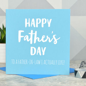 Cheeky Father In Law Father's Day Card - whatsnew