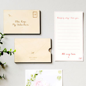 Personalised Love Letter Card - best valentine's gifts for her