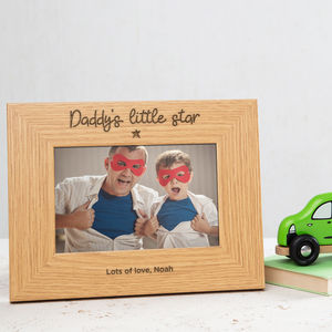 Personalised Daddy And Me Photo Frame - gifts for fathers