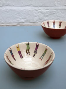 Small Hanging People Bowls - bowls