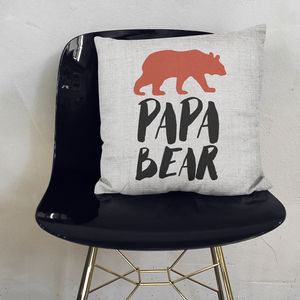 Papa Bear Cushion - cushions