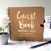 Personalised Wedding Guest Book - weddings