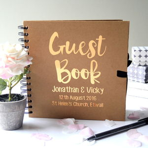 Personalised Wedding Guest Book - personalised