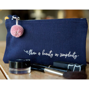 'Beauty In Simplicity' Make Up Bag - make-up bags