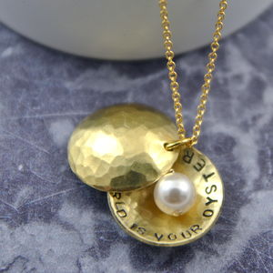 The World Is Your Oyster Secret Message Necklace