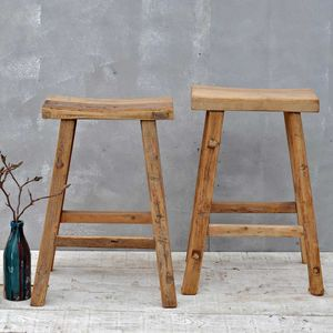 Reclaimed Timber Stool - furniture