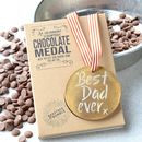 Best Dad Ever Belgian Chocolate Medal