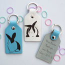 Teacher Gift Personalised Leather Rabbit Key Fob