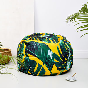 Bright Palm Leaves Adult Bean Bag - floor cushions & beanbags