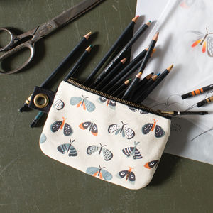 Butterfly Print Pouch - make-up & wash bags