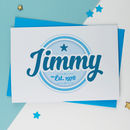 Personalised Logo Birthday Card For Him