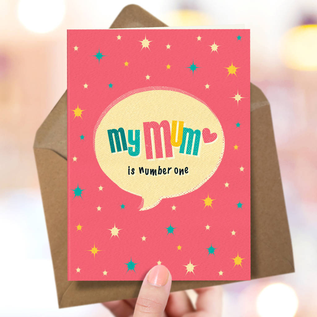'Number One' Card For Mum