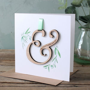 Ampersand Keepsake Wedding Card