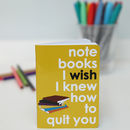 Set Of Movie Quote Notebooks For Stationery Lovers