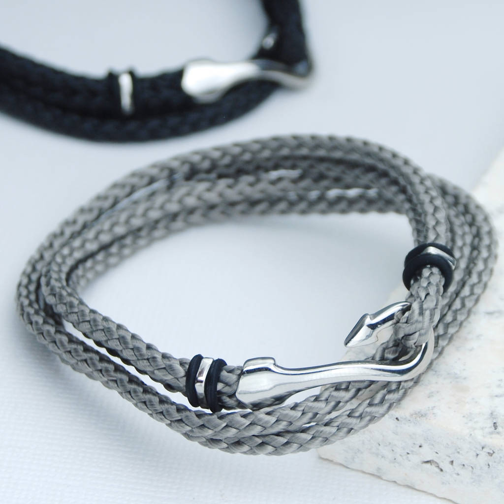 s nylon braided hook product for rope detail fashion bracelet nautical men