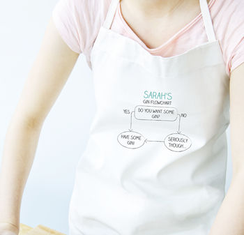 Personalised Gin Flowchart Apron