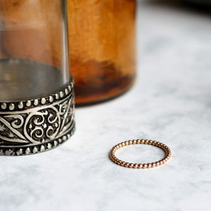Dotted Stacking Ring Rose Gold Fill