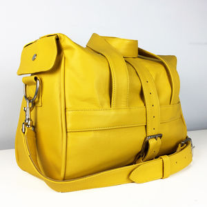Handcrafted Yellow Overnight Bag