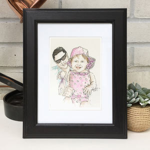 Personalised Favourite Person Illustration - drawings & illustrations