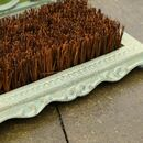 Scrolled Cast Iron Boot Brush And Scraper
