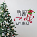 Elf Surveillance Christmas Wall Sticker