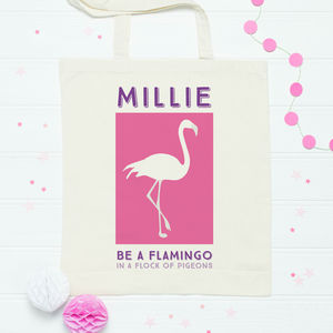 Personalised Flamingo Bag