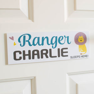 Personalised Jungle Ranger Door Sign Plaque - decorative accessories