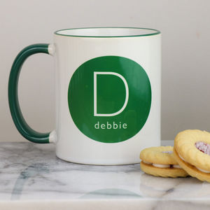 Personalised Initial And Drink Mug