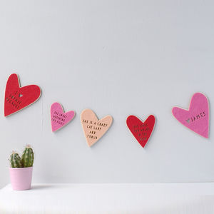 'Why I Love' Personalised Valentines Bunting - bunting & garlands