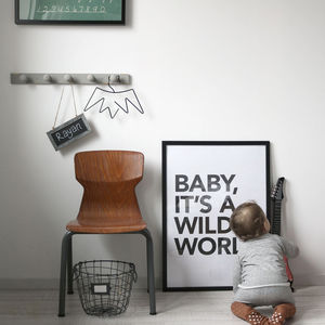 'Wild World' Poster - posters & prints for children