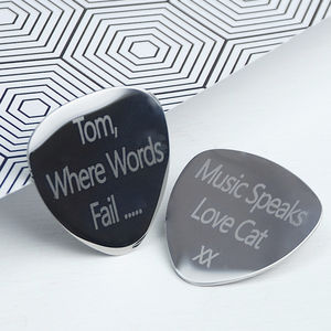 Personalised Guitar Plectrum - stocking fillers for him