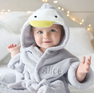 Personalised Penguin Dressing Gown - new baby gifts