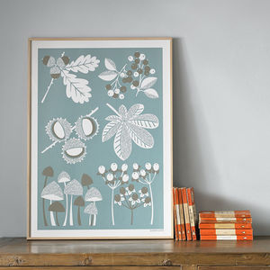 Autumn Seasonal Screen Printed Wall Art - posters & prints