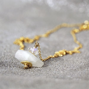 White Moonstone Pendant Necklace