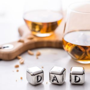'Dad' Stainless Steel Ice Cubes - home sale