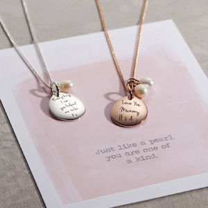 Personalised Pearl Necklace - gifts for her
