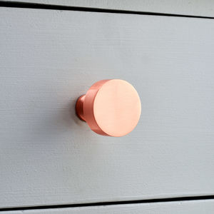 Brushed Brass Copper Cupboard Door Knobs - on trend: copper