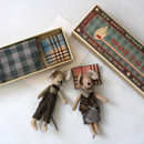 Vintage Style Grandma And Grandpa Matchbox Mice