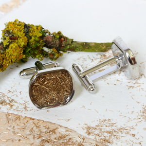 Metal Filings Cufflinks - cufflinks