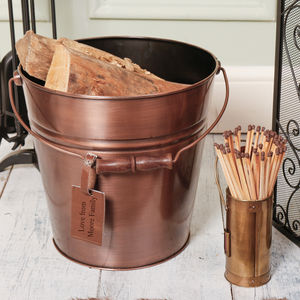 Antique Copper Fireside Bucket Selection