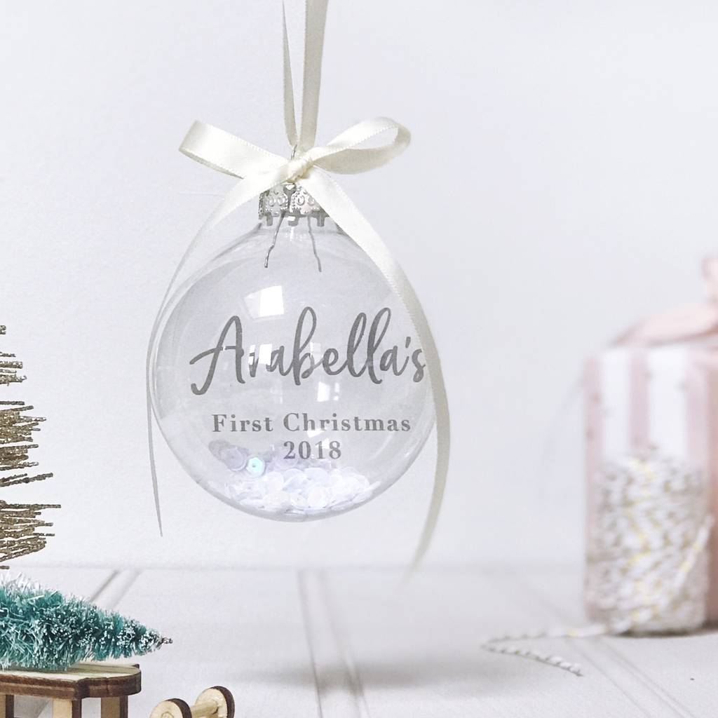 Personalised Baby S 1st Christmas Bauble By Honest Paper Co