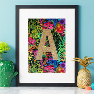 Monogram Tropical Liberty Fabric Wall Art