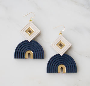 Monument Earrings - statement jewellery