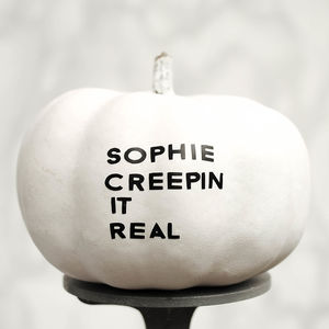 Creepy Personalised Name Halloween Pumpkin Sticker