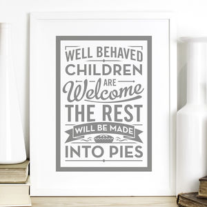 House Rules Quote Print
