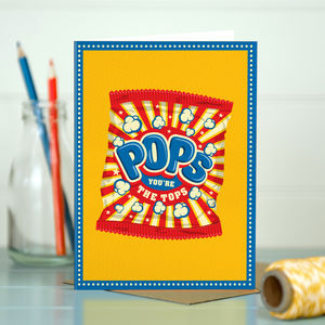 Funny Dad 'Dad Pops' - birthday cards