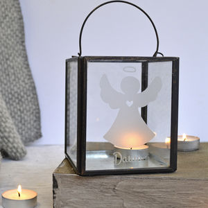 Personalised Angel Candle Holder - home accessories